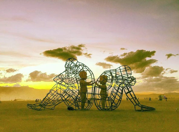 Alexander Milov sculpture from Burning Man